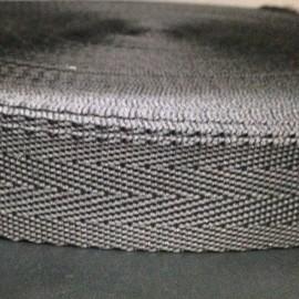 Тесьма ременная ТР 2,5см черная (50 метров)