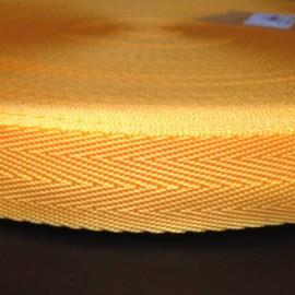 Тесьма ременная ТР 2,5см желтая (50 метров)