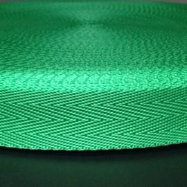 Тесьма ременная ТР 2,5см зеленая (50 метров)
