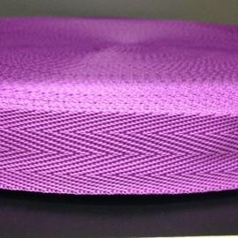 Тесьма ременная ТР 2,5см фиолетовый (50 метров)