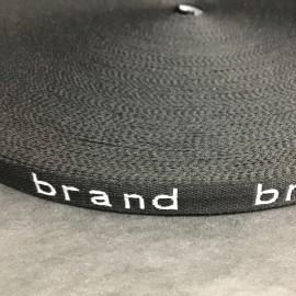 Тесьма с логотипом Brand 10мм  (50 метров)
