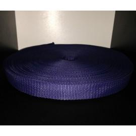 Тесьма ременная 900D 2,5см синий (100 метров)