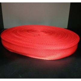 Тесьма ременная 900D 2,5см красный (100 метров)