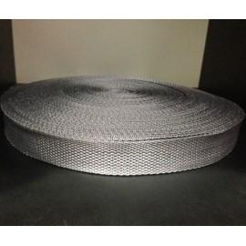 Тесьма ременная 900D 2,5см темно серый (100 метров)