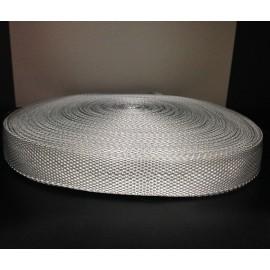 Тесьма ременная 900D 2,5см светло серый (100 метров)