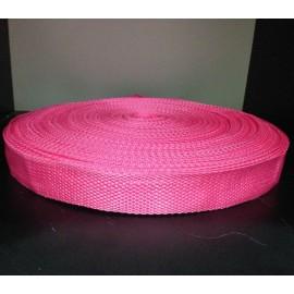 Тесьма ременная 900D 2,5см розовый (100 метров)