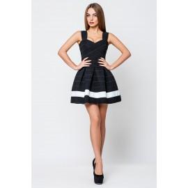 Платье женское Грация черный с 1 белой полосой PG001 (Штука)