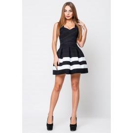 Платье женское Грация черный с 2 белыми полосами PG009 (Штука)