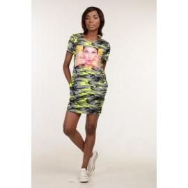 Платье-туника Монро камуфляж пирожное TM112 (Штука)