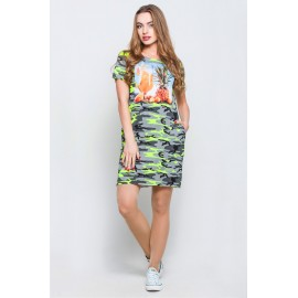 Платье-туника Монро камуфляж салат ананас TM116 (Штука)