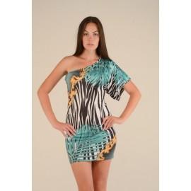 Платье женское Пальма цветное, зеленое PT130 (Штука)