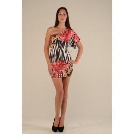 Платье женское Пальма цветное, коралл PT131 (Штука)