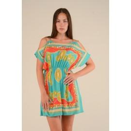 Платье женское Цепи цветное, мятное PT132 (Штука)