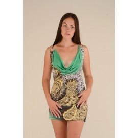 Платье женское Шаль цветное, зеленое PT135 (Штука)
