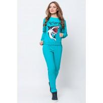 Спортивный костюм женский Акула бирюза SK144 (Штука)