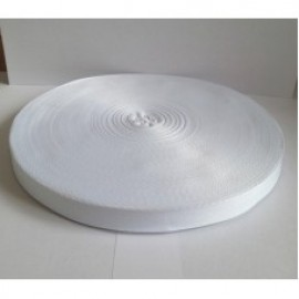 Тесьма лента  киперная 15мм №101 белый (100 метров)