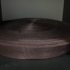 Тесьма ременная 900D 2,5см коричневый (100 метров)