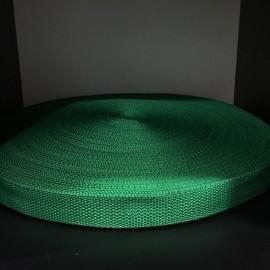 Тесьма ременная 900D 2,5см зеленый (100 метров)