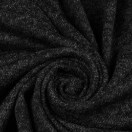 Ткань трикотаж ангора софт черный (метр )