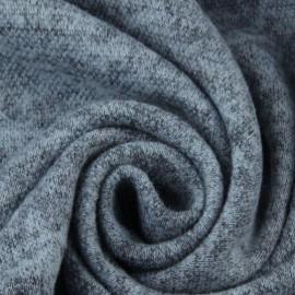Ткань трикотаж ангора софт серо голубой (метр )
