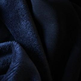 Ткань трикотаж на меху темно-синий (метр )