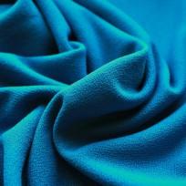 Ткань трикотаж креп голубая бирюза (метр )