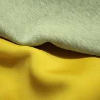 Ткань трикотаж неопрен двусторонний желтый+меланж (метр )