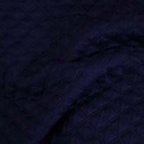 Ткань стеганный трикотаж ромб темно-синий (метр )