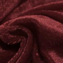 Ткань велюр стрейчевый тонкий бордовый (метр )