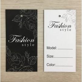 Этикетка картонная 5х10см Fashion (1000 штук)