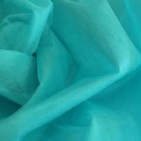 Ткань фатин средней жесткости бирюза голубая (метр )