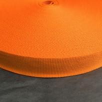 Тесьма репсовая тж 20мм коричневый оранжевый (50 метров)