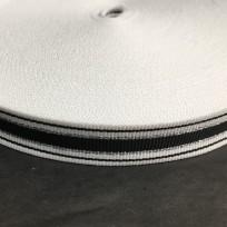 Тесьма репсовая тж 20мм белый 1п черная 2п серебро (50 метров)