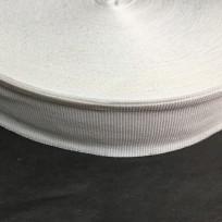 Тесьма репсовая тж 40мм белая (50 метров)