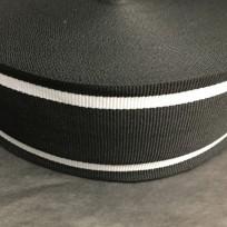 Тесьма репсовая тж 50мм чернвый 2п белые (50 метров)